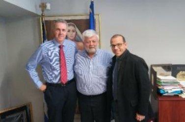 Ο νέος πρύτανης του πανεπιστημίου Πελοποννήσου στον δήμαρχο Τρίπολης